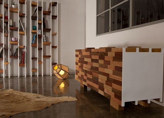 Recycled Wooden Furniture: Office Desk, Sideboard & Bookcase Designs