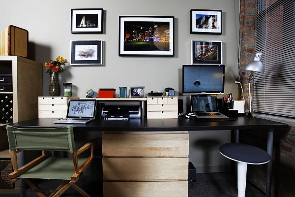 20 home office decorating ideas for a cozy workplace for Poster jugendzimmer