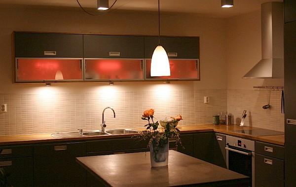 A Glamorous Kitchen with LED Strip Lighting | Luxury ...