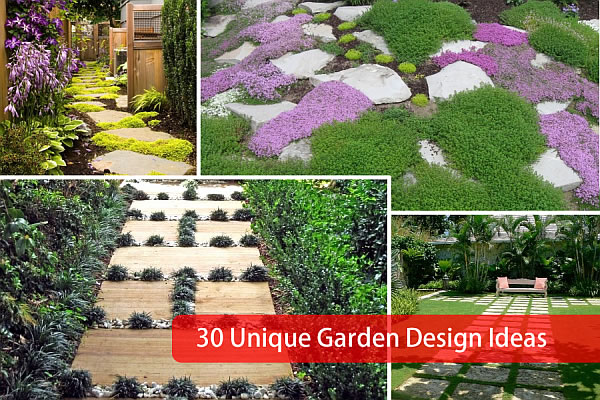 30 unique garden design ideas for Different garden designs
