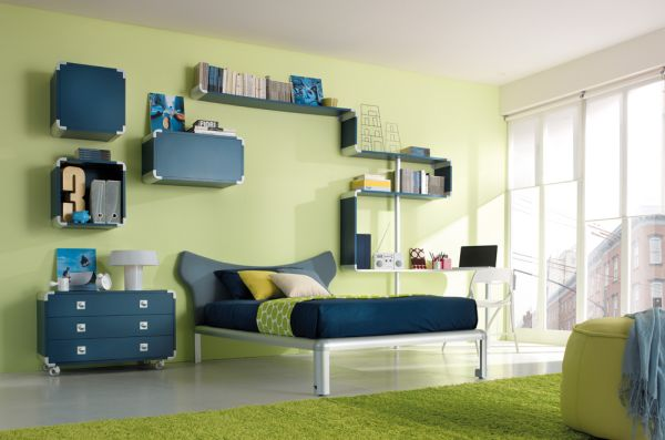 green kids room idea