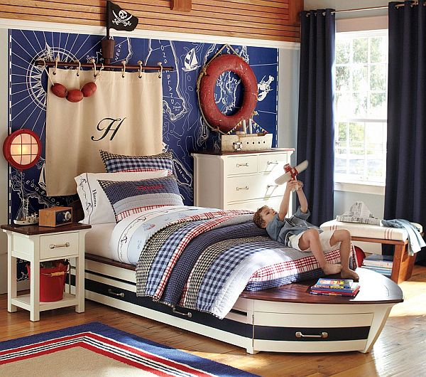 Nautical Boat Small Bedroom Design Ideas