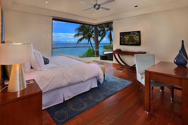 large bedroom with killer ocean views