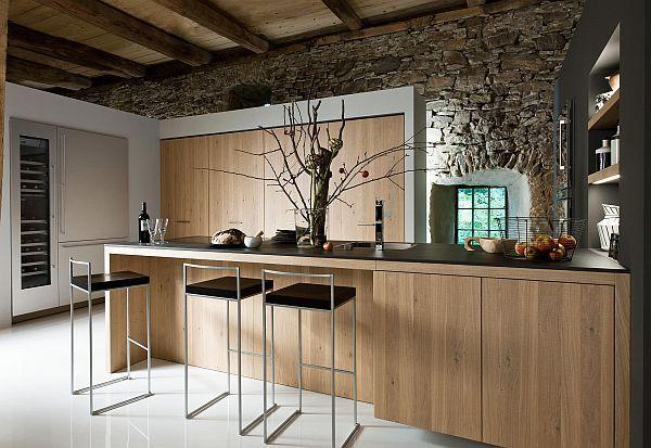 living kitchen design bar stools