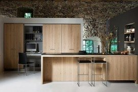 living kitchen design oak furniture