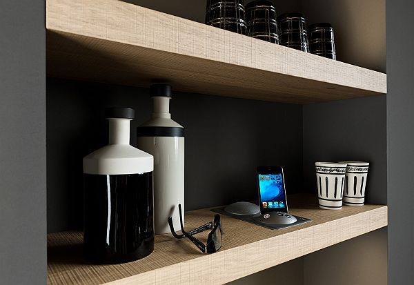 living kitchen design shelves