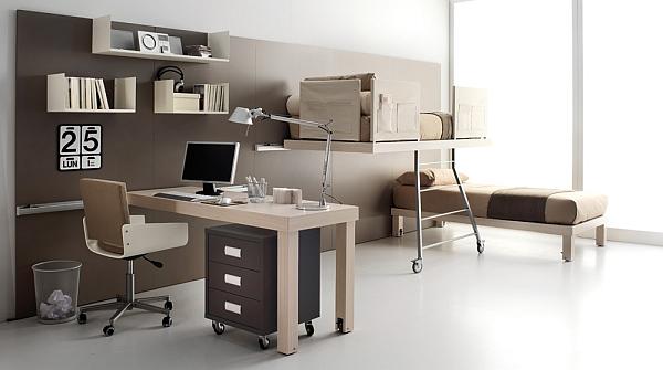 minimalist shared bedroom for teengers