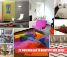 modern rugs collage