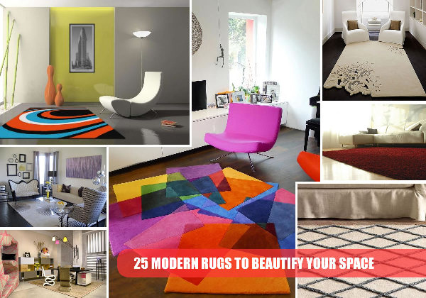 modern rugs collage 25 Modern Rug Finds to Enhance Your Space