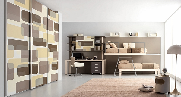 modern shared bedroom for teenagers