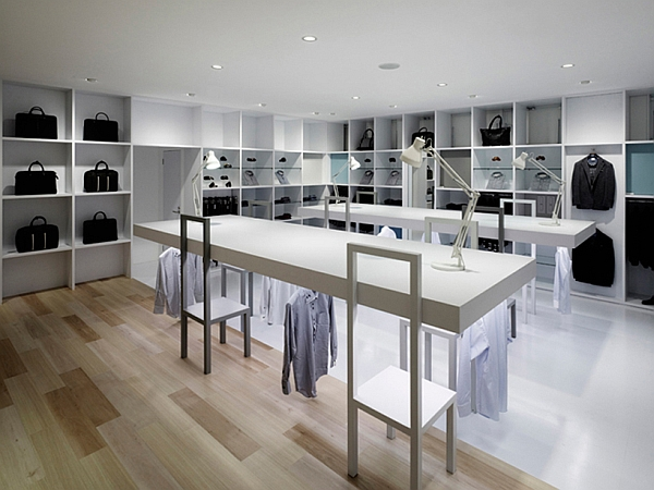 Halsuit concept shop in japan by nendo for Pret a porter decoration