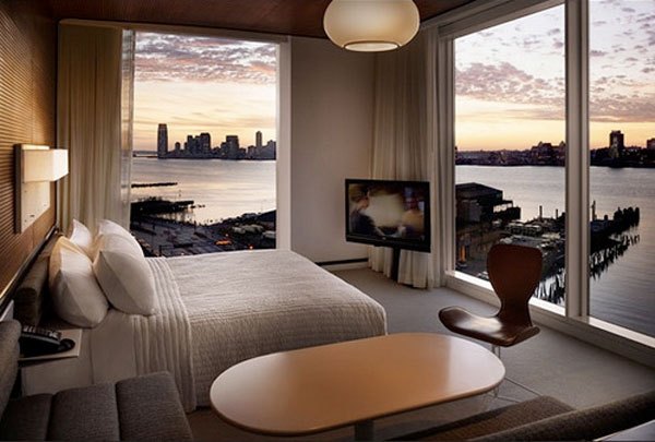 new york bedroom sunrise panoramic view