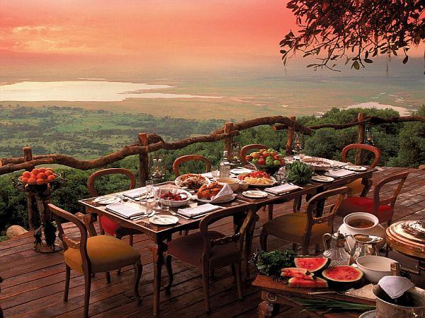 ngorongoro crater lodge view