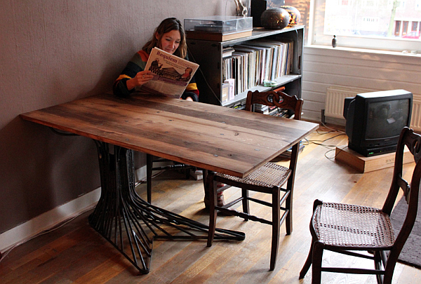 oak tree table Oak Tree Table Made of Steel: Fancy Addition For Your Home