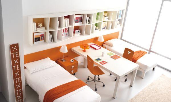 orange-themed-bedroom-decorating-for-kids-teenagers
