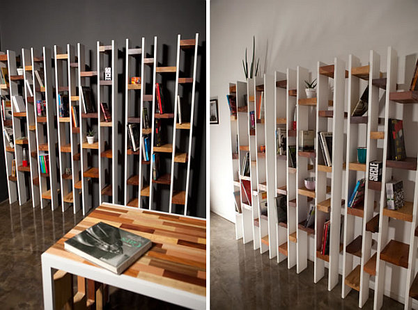 recycled wooden bookcase furniture