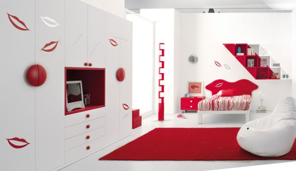 red bedroom accents for kids rooms decorating ideas