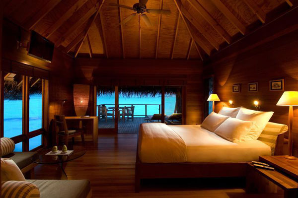 resort villa bedroom with amazing views