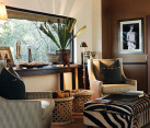 safari themed interiors - living room