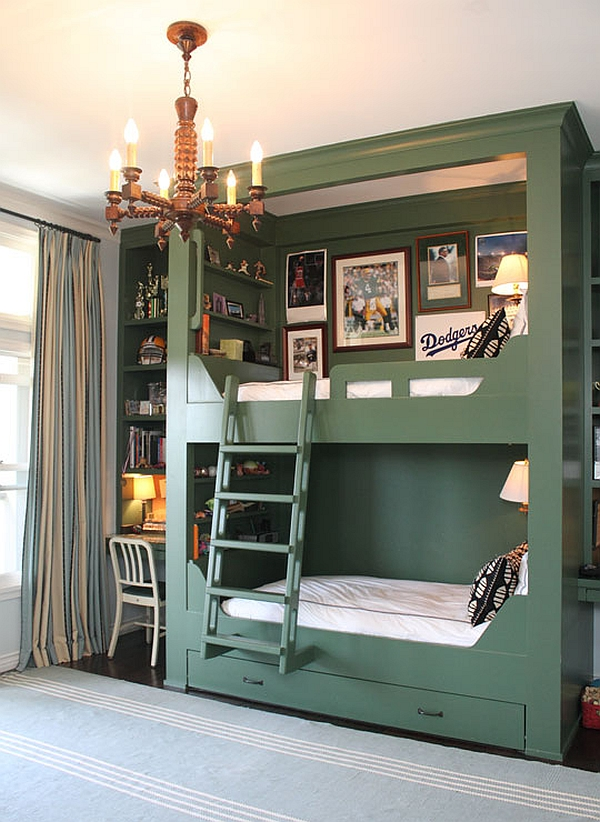 shared bedroom bunk bed design idea