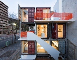 Marvellous Sugoroku Office Concept Made from Shipping Containers