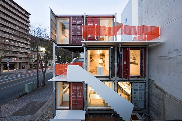 shipping container studio sugoroku 1 Marvellous Sugoroku Office Concept Made from Shipping Containers