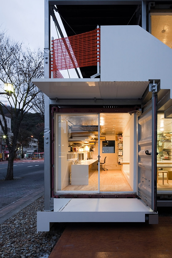 marvellous sugoroku office concept made from shipping containers. Black Bedroom Furniture Sets. Home Design Ideas