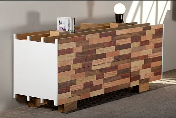 sideboard design from recycled wood