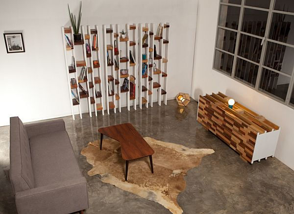 sideboard desk from recycled wood