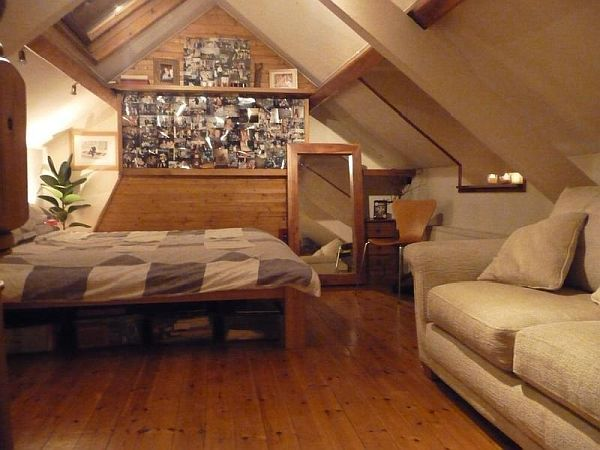 small bedroom in the attic