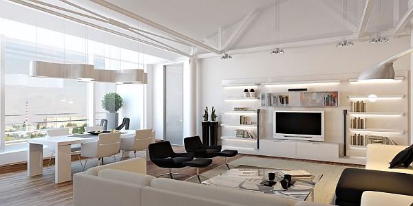 ultra modern colorful loft apartment