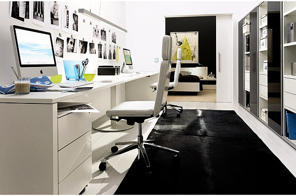 20 home office decorating ideas for a cozy workplace for Ultra modern office building design