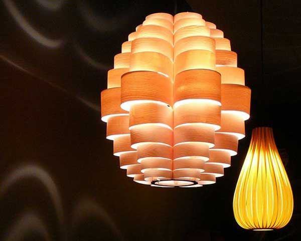 unique lighting accessories from wood Artistic Lighting Shades from Passion 4 Wood