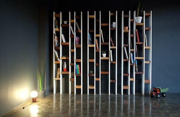 wall mounted bookcase design
