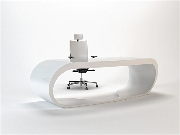 white Goggle Office Desks