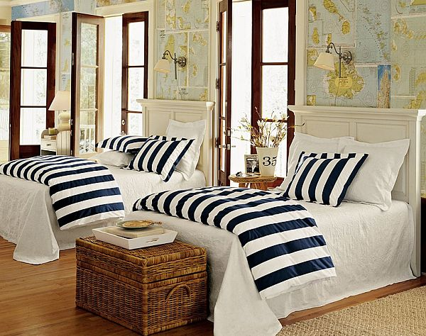 Nautical Bedroom decorating with a nautical theme