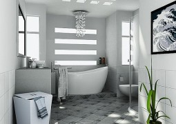 white clean bathroom