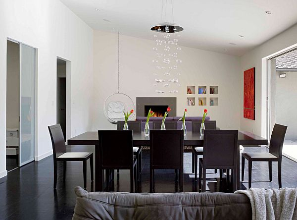 1950s House Renovation - contemporary dining room, minimalist style