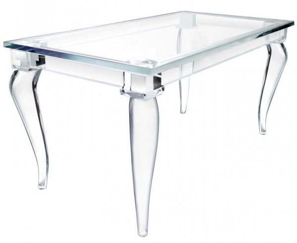 Magic Design Of Alexandra von Furstenberg's Acrylic Furniture -> Table Basse Plexiglass