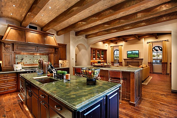 Arizona custom kitchen decorating ideas sonoran desert for Custom home design ideas