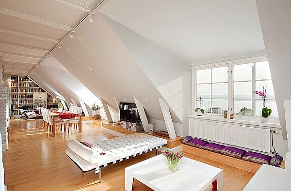 Attic Penthouse Decoration Ideas – Stockholm – 1