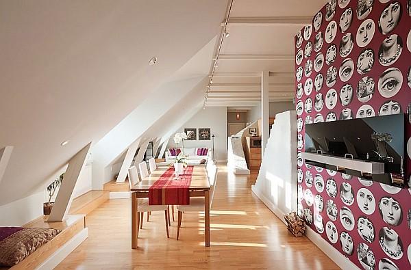 Attic Penthouse Decoration Ideas – Stockholm – 10