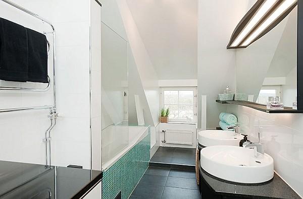 Attic Penthouse Decoration Ideas – Stockholm – 12