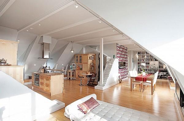 Attic Penthouse Decoration Ideas – Stockholm – 5