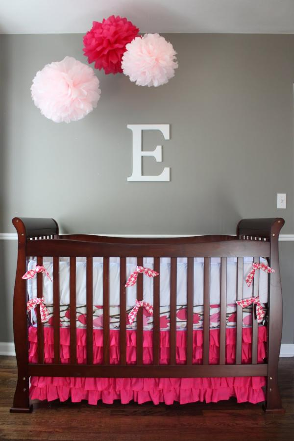 25 modern nursery design ideas for Baby girl crib decoration ideas