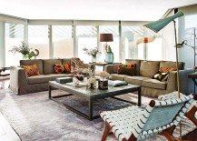 Attic With Roof Terrace Has Lovely Bright Interiors