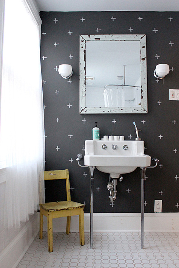 chalkboard paint ideas when writing on the walls becomes fun With chalk paint in bathroom