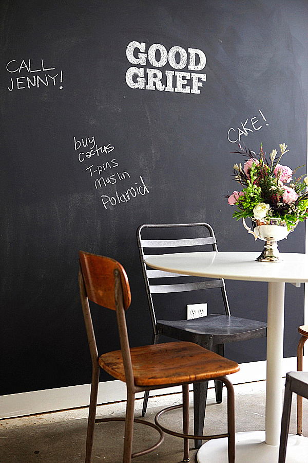 Chalkboard Paint In Dining Spaces