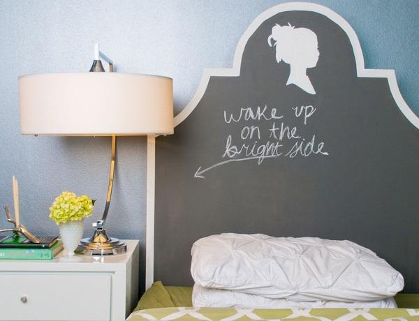 Chalkboard Paint Headboard