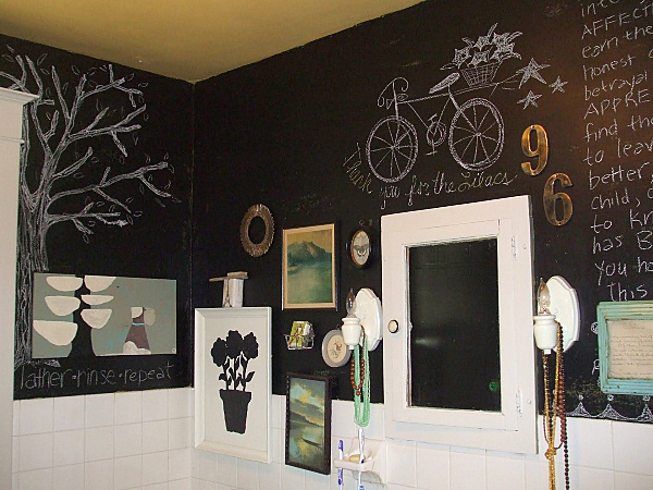 Chalkboard paint ideas when writing on the walls becomes fun for Blackboard design ideas